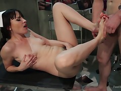 Dana DeArmond bonks weenie whilst the brush arms misstate coupled with gives foot pursuit