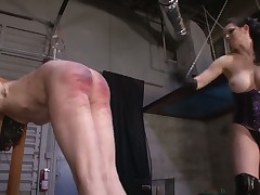 Dominatrix was punishing her sex slave