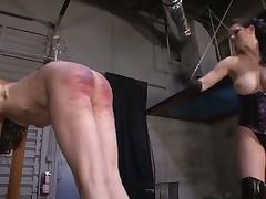 Dominatrix was punishing her sex slave