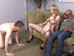 Sexy wife Allie James abused her slave