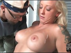 Slut was fucked by large ramrods from her all sides