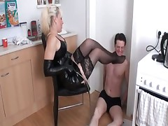 helpless slave was tortured hard by heartless Dominatrix