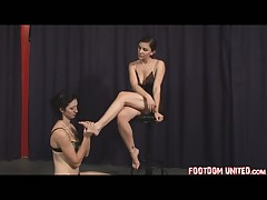 Mistress is very glad that she has such foot slave