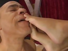 Busty Dominatrix tortured her male sub really hard