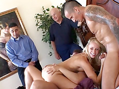 Rough threesome with perverted lady