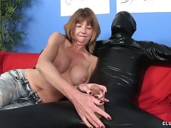 Horny MILF Dee makes big cock explode in her mouth
