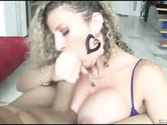 Cute beauty Sara Jay adores her awesome tits fucked