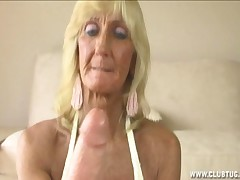 Kinky granny fucking big cock with tits and hands