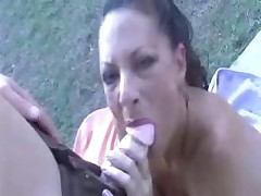 Sexy bitch Margo drives mad of big cock jerking