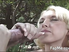 Naughty cutie makes big cock cumming hard and wild
