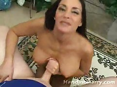 Mature whore shows her ass and tit fucks cock