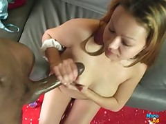 Kinky amateur bitch loves stroking cocks till dirty facials