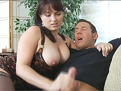 Lovely hottie Angelique adores young throbbing cocks in action