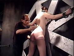 Slave Catherine bound and spanked