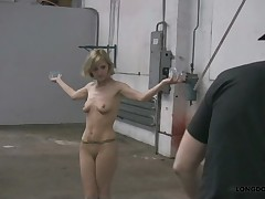 Breast caning and cruel bullwhipping with Lola.