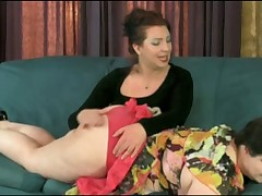 Plump Brunette Gets Her Big Ass Spanked!!!!!!!