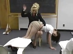 Student gets spanked by Teacher
