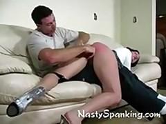 Amateur spanking pussy