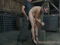 Hard spanking for masked playgirl
