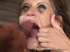 extreme mouth gagging orgy