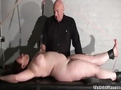 Chubby female torture and nipple clamped bbw bdsm of Nimue Allen in hardcore