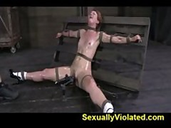 Claire Robbins tied down hard part 2 of 2