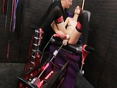 Bound chick given multiple orgasms
