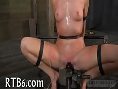Facial and pussy torture for chick