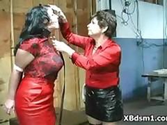 Arrogant Mature In Voluptuous BDSM Girl