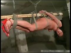 Hardcore bondage and brutal punishement
