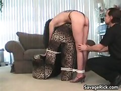 Tied Belle Donielle fetish and pooper