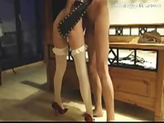 German sub Heidi gets her ass severely spanked