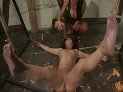 Fisting loving lez in fond of bdsm as she gets mouth fisted