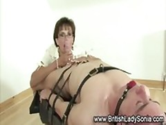 Mature femdom bondage blowjob