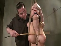 Restrained and suspended sub at dungeon