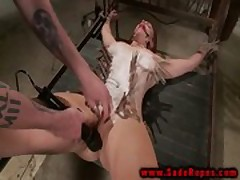 Candle wax bondage BDSM sub vibrated