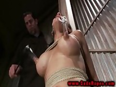 BDSM fetish bondage lady roughly treated
