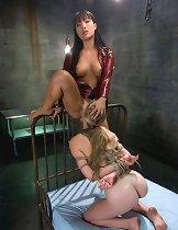Asa Akira sexually dominates Sunset Diamond