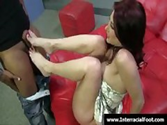 Foot fetish - Sexy teen babes fucking cock with their feet 28