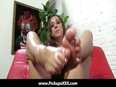Foot fetish - Sexy babes fucking cock with their feet 25