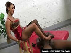 Foot fetish - Sexy babes fucking cock with their feet 12