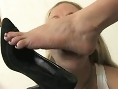Girl/Girl Foot Worship - Dia Zerva and Mistress Claire