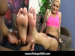 Foot fetish - Sexy babes fucking cock with their feet 20