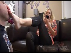 Goddess Dee foot worship