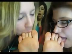 Punk lesbians foot worship