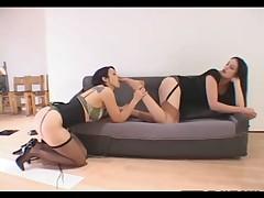 Lesbian nylon foot fetish