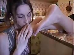 Lesbian hot foot worship