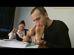 Foot fetish femdom