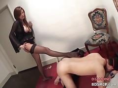 Foot worship pegging femdom ass worship