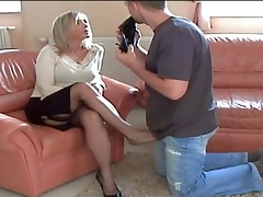 mature nylon heels and foot worship 3